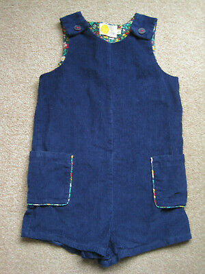 Mini Boden navy blue girls 7-8 years chunky cord corduroy playsuit worn once
