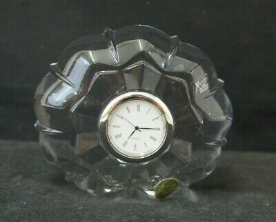 Xavier Crystal Small Mantle Clock Bohemian Czech Republic