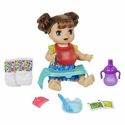 Baby Alive Happy Hungry Baby Brown Straight Hair Doll, Makes 50+ Standard