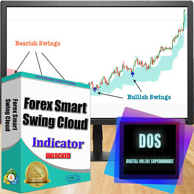 Ultra-precise forex indicator Forex Smart Swing Cloud for MT4