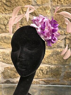 Pink and Purple Fascinator by fascinating.org.uk