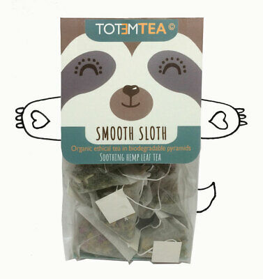 Hemp Organic Tea Bags-Natural Sleep Anxiety Relief-Smooth Sloth- Totem Tea UK-