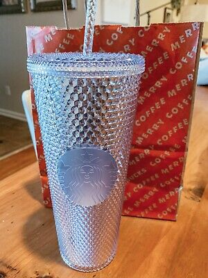 starbucks 2019 Holiday iridescent bling platinum 24oz cup