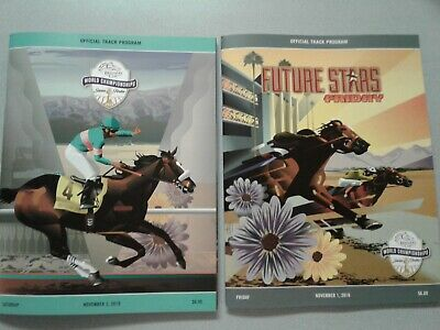 2-Lot of New 2019 Breeders Cup Fri/Sat Programs-Mint Condition