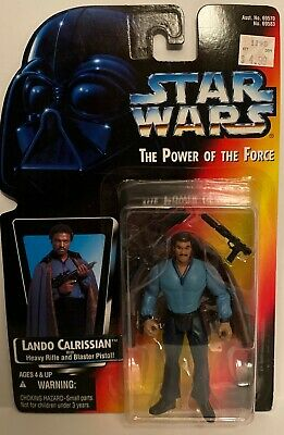 1996 Kenner Star Wars POTF Lando Calrissian NIB Red Card 3.75/""