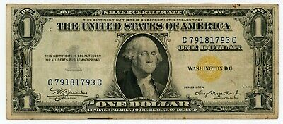 1935A United States Silver Certificate $1 - North Africa used during WWII