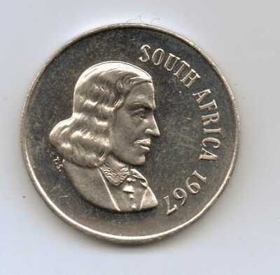 Low Mintage Proof FREE SHIP South Africa Bin #B 1967 SOUTH AFRICA 10 CENTS