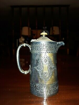 Antique Ornate Silverplated Creamer Pitcher