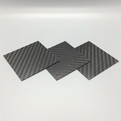 """Carbon Fiber Plate Panel. 6K 100% Carbon Sheet. Made In The US .032""""-.078"""""""