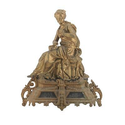 Antique Empire French Figural Sculpture Mantel Clock Top and Base