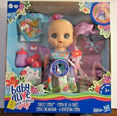 Baby Alive Once Upon a Baby: Forest Tales Forest Emma (Blonde Hair Baby Doll)