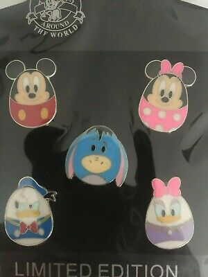 Disney Pins- Mickey Eyeore Minnie Donald Daisy 5 Pins As  Shown In Package