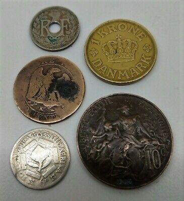 DECEASED ESTATE COINS - 5 coins from 1864? to 1939 a