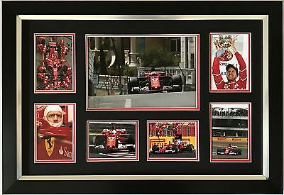 Sebastian Vettel Hand Signed Autograph Framed Photo Display Ferrari F1 2017.