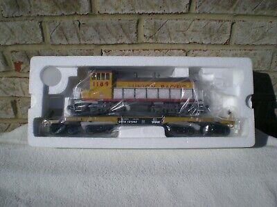 MTH Premier TTX 47' Heavy Duty Flat Car w/ SW-1500 Union Pacific (UP) Diesel NEW