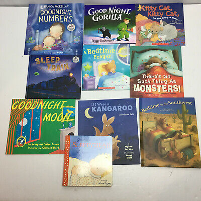 Childrens Picture Books About BEDTIME Lot of 10 FREE SHIPPING!