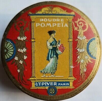 Antique France L.T. Piver Face Powder Box/Vintage Nouveau/Deco Era Make-Up