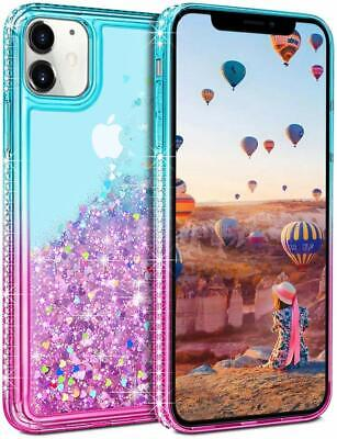 Coolden for iPhone 11 Case Glitter Slim Shockproof Case Flowing Liquid Quicksand