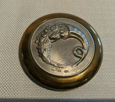Ilias Lalaounis Sterling Silver (925) & Brass Vintage Greek Horn Of Plenty Coin