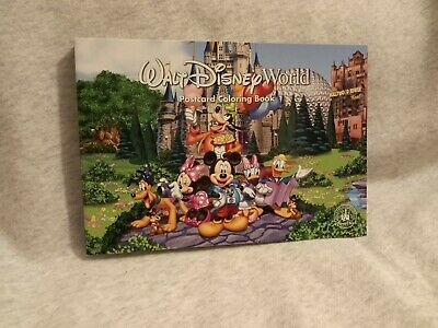 Walt Disney World Attractions & Characters Postcard Coloring Book Parks Vacation