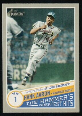 2019 Topps Heritage High  Number Hank Aaron The Hammer's Greatest Hits Thgh-3