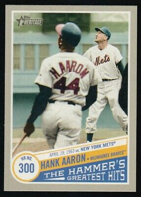 2019 Topps Heritage High  Number Hank Aaron The Hammer's Greatest Hits Thgh-6