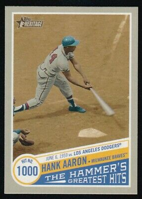 2019 Topps Heritage High  Number Hank Aaron The Hammer's Greatest Hits Thgh-13