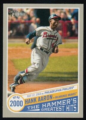 2019 Topps Heritage High  Number Hank Aaron The Hammer's Greatest Hits Thgh-14