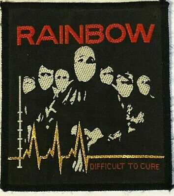 RAINBOW - Difficult to Cure - Old OG Vtg 1980`s Woven Patch Sew On Blackmore