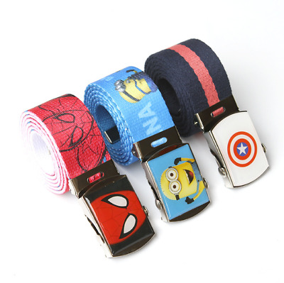 Kids Children Sports Canvas Belts Adjustable Buckle Belt Waist Belts Boy's Belt