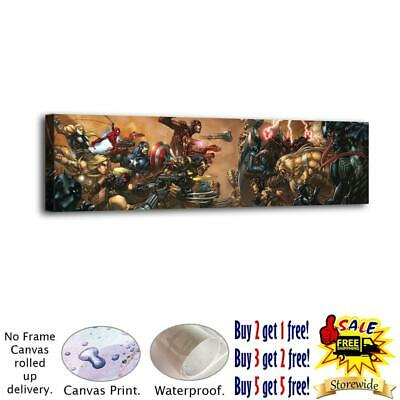 """12""""x50""""Super hero HD Canvas prints Painting Home Decor Picture Room Wall art"""