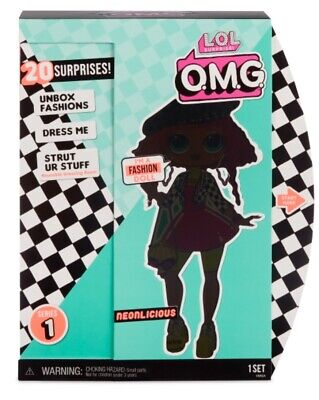 "💎🎯 LOL Surprise OMG NEONLICIOUS 10"" Fashion Doll BIG SISTER Winter Disco 🎯💎"