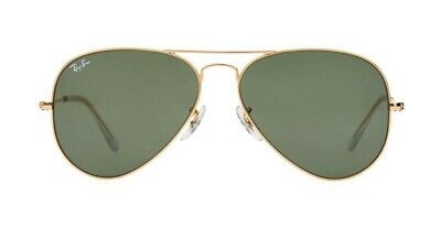 RayBan Aviator Classic Sunglasses 58mm - Gold Green Classic G-15 - RB3025 58-14