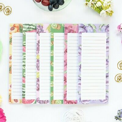 Magnetic Shopping List, Grocery & To Do List FruitNotes Notepads 60 Sheets, 2 pk