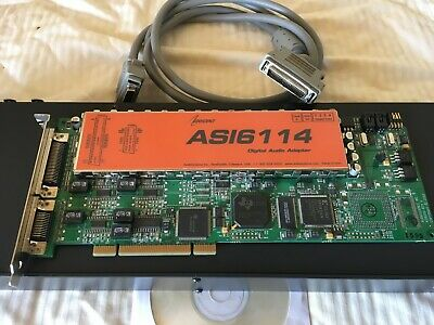 ASI-6114 Analogue/Digital Soundcard coupled with a BOB-1025 Break Out Box