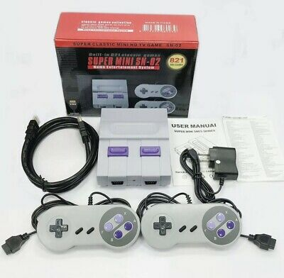 Classic Mini Edition Entertainment System 821 Modded - SNES Games