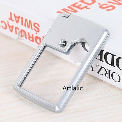 Read Helper Credit Card Led Magnifier Loupe With Light Portable Magnifying Glass