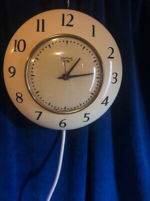Original 1950s Enamel Smiths Sectric Kitchen Wall Clock Pat Test Free Pp