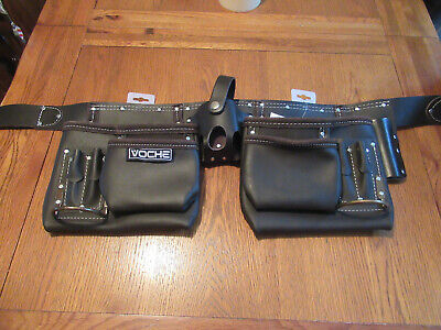 Leather Tool Pouch Professional Double Oil Tanned Belt tooltime VOCHE