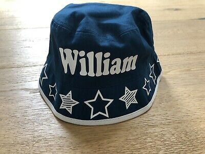 Boys Cotton Navy 'William' Bucket Hat NEW
