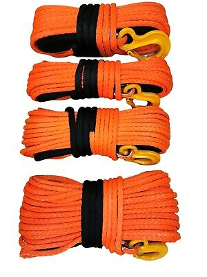 12mm - 15mm Orange Synthetic winch rope Dyneema SK75 choose diameter and length