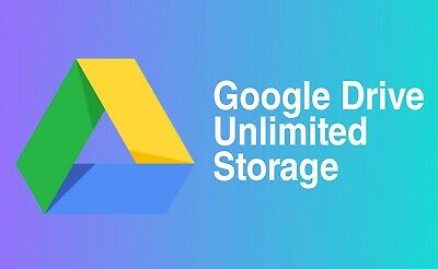 UNLIMITED Google drive storage added to your existing account