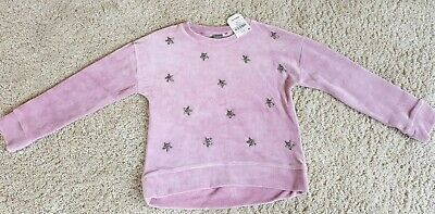 Girls Pink Velour Christmas Party top Next age 8