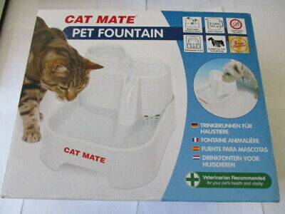 New Cat Mate Pet Drinking Fountain - For Cats and Small Dogs 2 Litre