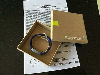 Bioflow Adventure Magnetic Blue Bracelet Bnib With Photocopied Instructions