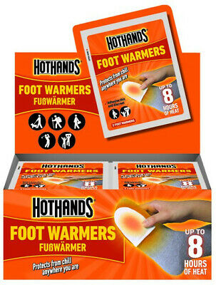 Hot Hands Foot Warmers HotHands x 20 Pairs, Easy Warmth,Up to 8hr of Heat