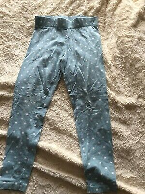 Mini Boden Blue And White Spotty Leggings Girls Size 7-8 Years