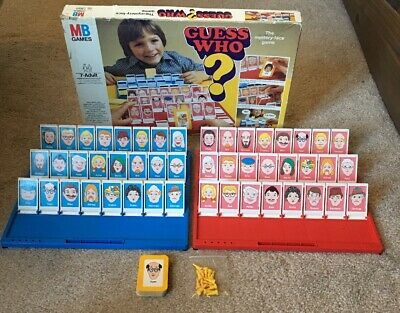 Guess Who 1979 Vintage - MB GAMES - Board Game - Family Fun