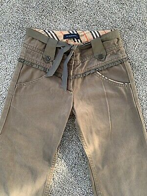 Girls Burberry Trousers Age 6