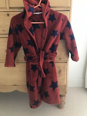 John Lewis Unisex Dressing Gown Good Condition Red Age 7